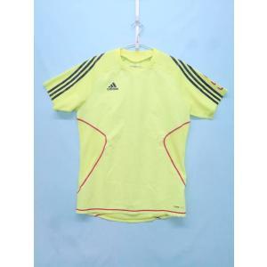 adidas(アディダス)サッカーゲームシャツ 半袖 黄 黒 メンズ A-ランク XO|wanboo