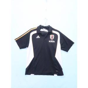 adidas(アディダス)サッカー日本代表ポロシャツ 半袖 黒 黄 メンズ A-ランク 0|wanboo