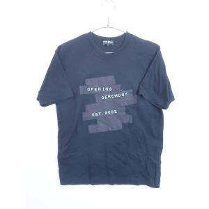 OPENING CEREMONY(オープニングセレモニー)刺繍ロゴTシャツ 半袖 黒/白 メンズ S