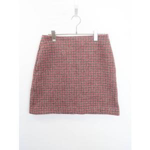 UNIQLO(ユニクロ)チェックウールスカート 赤/黒 レディース Aランク|wanboo