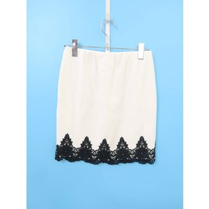 DELYLE(デイライル)裾レースタイトスカート 白 レディース 新品 F|wanboo