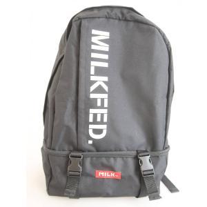 MILKFED.(ミルクフェド)ロゴバックパック 黒 レディース Aランク wanboo