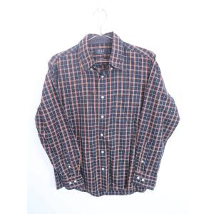 POLO BRITISH COUNTRY SPIRIT(ポリビーシーエス)ポイント刺しゅうチェックシャツ 長袖 黒/黄 メンズ L|wanboo
