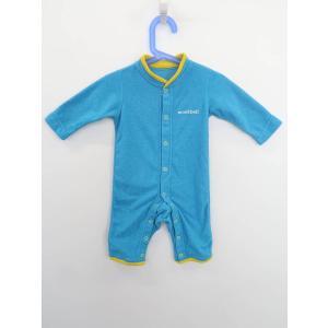 子供服★mont-bell(モンベル)パイピングロンパース 長袖 青/黄 Aランク 70