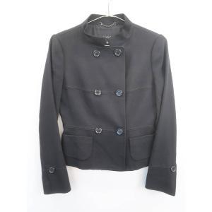 EPOCA(エポカ)ダブルウールジャケット 長袖 黒 レディース Sランク 40|wanboo