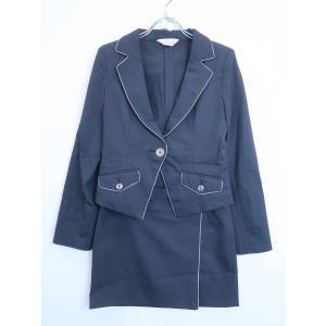 ラメラインジャケットセットアップ 長袖 黒/シルバー レディース 9|wanboo