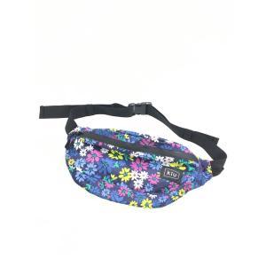 KiU(キウ)花柄ウエストポーチ 青/紫 レディース Aランク|wanboo