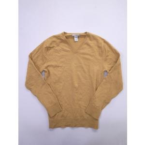 GAP(ギャップ)Vネックニットカットソー 長袖 黄 メンズ Aランク M|wanboo