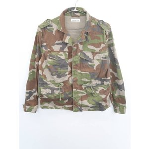 BROWNY(ブラウニー)カモフラージュ柄シャツジャケット 長袖 緑/茶 レディース Aランク F|wanboo