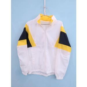 GU(ジーユー)トラックジャケット 長袖 白 黄 メンズ 新品 L|wanboo