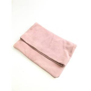 rienda(リエンダ)カラースエードクラッチバッグ ピンク レディース|wanboo