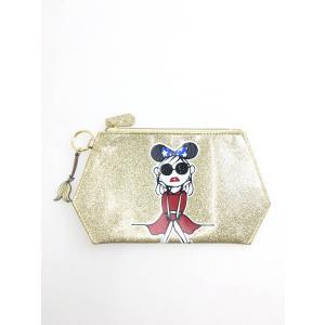 Disney(ディズニー)Disney Artist Collection by Daichi Miura Fantagiaポーチ ゴールド/赤 レディース Aランク wanboo