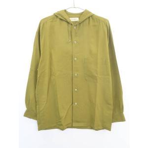 Equipment(エキプモン)シルクフーディージャケット 長袖 緑 レディース A-ランク M|wanboo