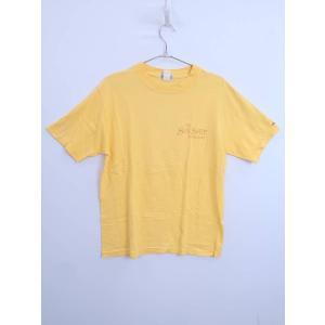 SUN SURF(サンサーフ)バックプリントTシャツ 半袖 黄 メンズ M|wanboo