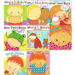 Where is babyシリーズなど karen katz 英語しかけ絵本8冊セット