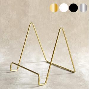 皿立て ワイヤースタンド 金属製 小 Sサイズ スタンド 寄せ書き 色紙 ショップカード タブレット ipad  皿立て ディスプレイスタンド|wanizou