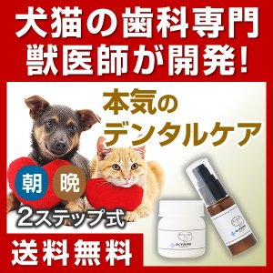 わんこの歯医者さん開発 Dr.YUJIRO パーフェクトセット 約3カ月分 3000頭以上の犬の歯石除去/歯石取りを行ってきた獣医師が開発