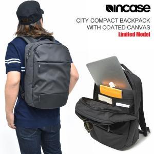 インケース リュック Incase シティコンパクトバックパック コーティングキャンバス ブラック ...