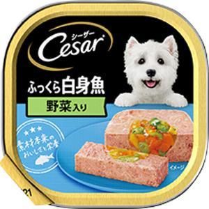 シーザー トレイ ふっくら白身魚 野菜入り ローフタイプ 100g×24コ|wannyan-ya
