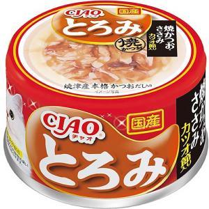いなば チャオ とろみ 焼かつお ささみ カツオ節入り 80g×24缶