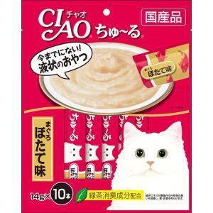 チャオ ちゅ〜る まぐろほたて味 14g×10本 [ちゅーる]|wannyan-ya