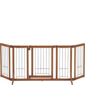【送料無料】木製おくだけドア付ゲート M
