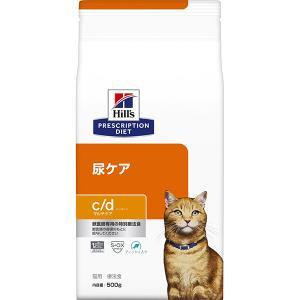 [特別療法食]ヒルズ プリスクリプション・ダイエット 猫用 尿ケア c/d マルチケア フィッシュ入り ドライ 500g|wannyan-ya