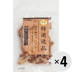 【セット販売】特選逸品 豚耳細切り ソフト 60g×4コ|wannyan-ya