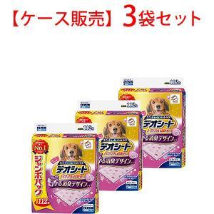 【ケース販売】デオシートふんわり香る消臭デザインシートフローラルアロマの香りレギュラー112枚×3袋