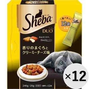 【ケース販売】シーバデュオ 香りのまぐろとクリーミーチーズ味 240g×12コ|wannyan-ya