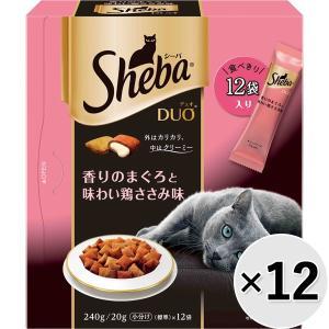 【ケース販売】シーバデュオ 香りのまぐろと味わい鶏ささみ味 240g×12コ|wannyan-ya