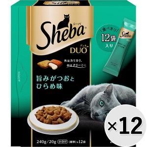 【ケース販売】シーバデュオ 旨みがつおとひらめ味 240g×12コ|wannyan-ya