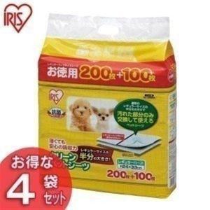 【300枚入×4袋セット】 薄くても安心の吸収力で汚れた部分のみを交換して使えるペットシーツです☆通...
