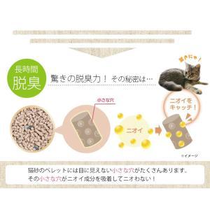 猫砂 ねこ砂 上から猫トイレ用砂 5L UNS-5L アイリスオーヤマ 強力脱臭 固まる ベントナイト ペレット セット まとめ買い|wannyan|04