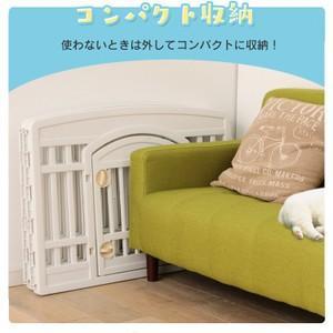 ケージ 犬 ゲージ ペットサークル ドッグサークル 室内 サークル CI-604E W/D ホワイト/ベージュ アイリスオーヤマ 柵|wannyan|05