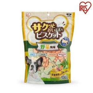 犬 おやつ フード サクッとおいしいビスケット 野菜風味 500g P-MBV500 アイリスオーヤ...