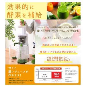 ジューサー ミキサー スロージューサー 低速 ジュース スムージー 酵素 フローズンドリンク スロージューサー ISJ-56-W  アイリスオーヤマ:予約品|wannyan|05