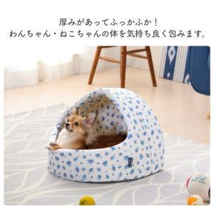 ペットベッド ペット ベッド 犬用ベッド 猫用ベッド 春夏 ペット用クールドームベッド PCDB19M ホワイト/ブルー アイリスオーヤマ あすつく|wannyan|07