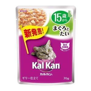 カルカンパウチ 15歳から まぐろとたい 70g マースジャパン 猫 キャットフード ペットフード 高齢 シニア wannyan