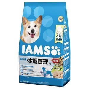 アイムス 成犬用 体重管理用 チキン 中粒 2.6kg ID226 マースジャパンリミテッド フード 犬用 犬 ごはん エサ カリカリ|wannyan