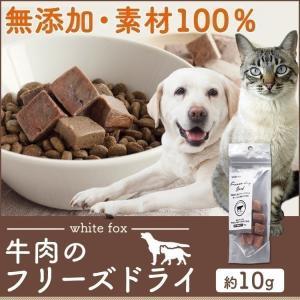 おやつ フード ドライフード 牛肉のフリーズドライ 犬・猫用 10g whitefox (D)(B)|wannyan