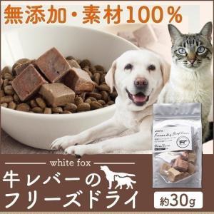 おやつ フード ドライフード  牛レバーのフリーズドライ 犬・猫用 30g whitefox (D)(B)|wannyan
