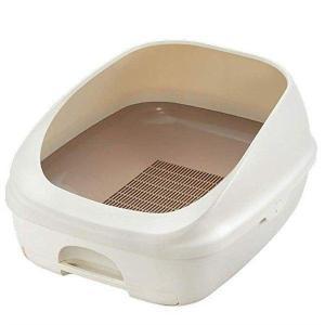 デオトイレ本体 ハーフ ナチュラルアイボリー 複数ねこトイレ 猫 ハーフ 本体 アイボリー 匂わない...