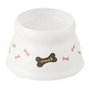 犬用食器 ドッグフード 犬 えさ こぼれにくい 脚付ドッグディッシュ S ホワイト リッチェル (D)|わんことにゃんこのおみせ