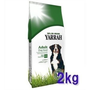 ヤラー YARRAH オーガニック  ベジタリアン ドッグフード 2kg 成犬用(AA)(D)|wannyan