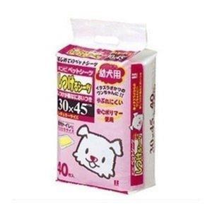 ペットシーツ レギュラーサイズ 薄型 ボンビ しつけるシーツ 幼犬用 40枚 (LP)(D) wannyan