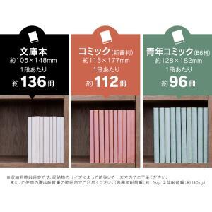 本棚 おしゃれ 大容量 コミックラック 大容量タイプ CORK-1890 ブラック ホワイト アッシュブラウン ウォールナット オフホワイト アイリスオーヤマ|wannyan|07