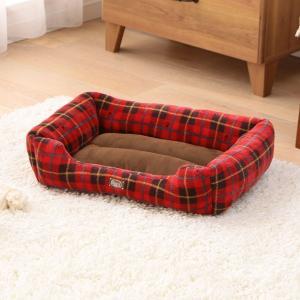 犬 猫 ベッド ペット あったかソファベッド 角型 Mサイズ PSKI530 アイリスオーヤマ 秋冬 おしゃれ かわいい チェック かわいい おしゃれ|wannyan|02