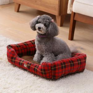犬 猫 ベッド ペット あったかソファベッド 角型 Mサイズ PSKI530 アイリスオーヤマ 秋冬 おしゃれ かわいい チェック かわいい おしゃれ|wannyan|03