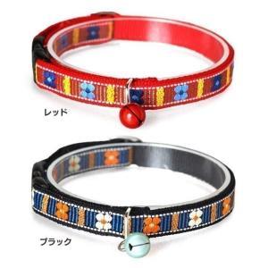 猫 ペット 首輪 キャットカラー タイルフラワー 484461 犬と生活 (D)(B)【メール便】|wannyan